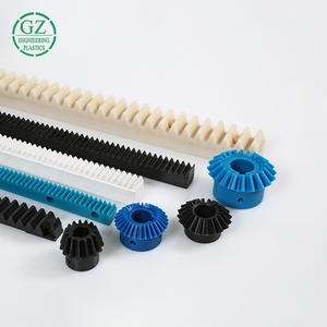 engineering plastic CNC machining colored PA6 MC nylon gear rack and pinion