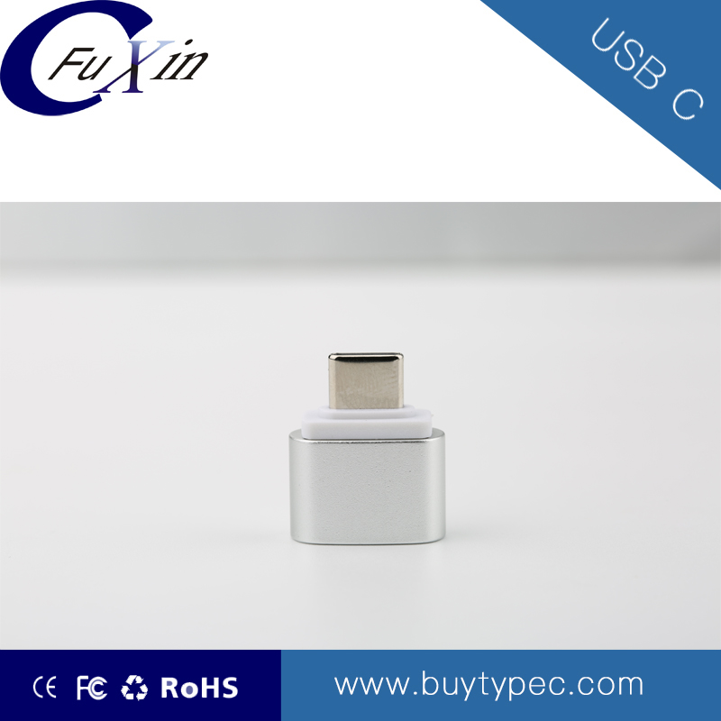 Micro 2.0 to USB 3.1 type C metal adapter for phone