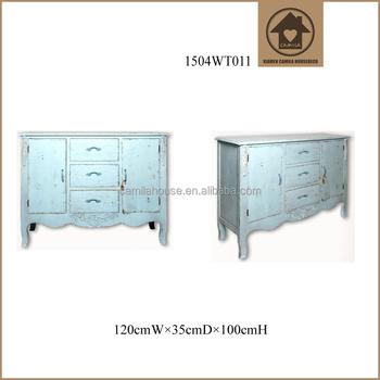 Vintage Wood Living Room Cabinet Furniture Partition Antique Home Decoration