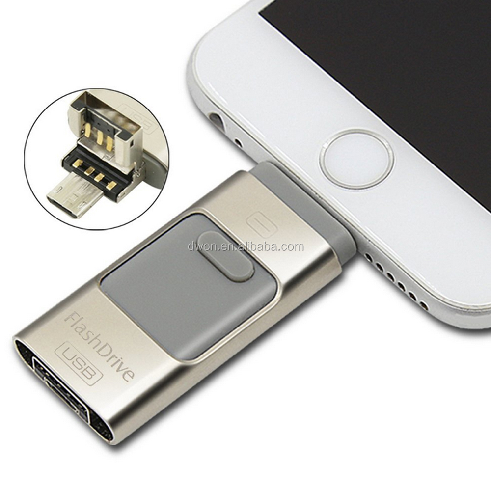 Metal Material 64gb Capacity for apple iphone OTG USB Pendriver