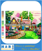 wooden diy paint by numbers chinese painting
