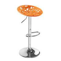 New Design ABS used commercial orange bar stools