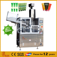 China Supplier Cosmetics Paste Facial Cream Toothpaste Tube Filling Sealing Machine