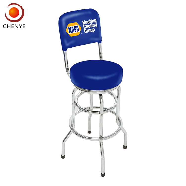 Amazing High Back Cushion Leather Steel Swivel Commercial Bar Stool With Chrome Plated Base Buy Commercial Bar Stool Steel Swivel Commercial Bar Ibusinesslaw Wood Chair Design Ideas Ibusinesslaworg