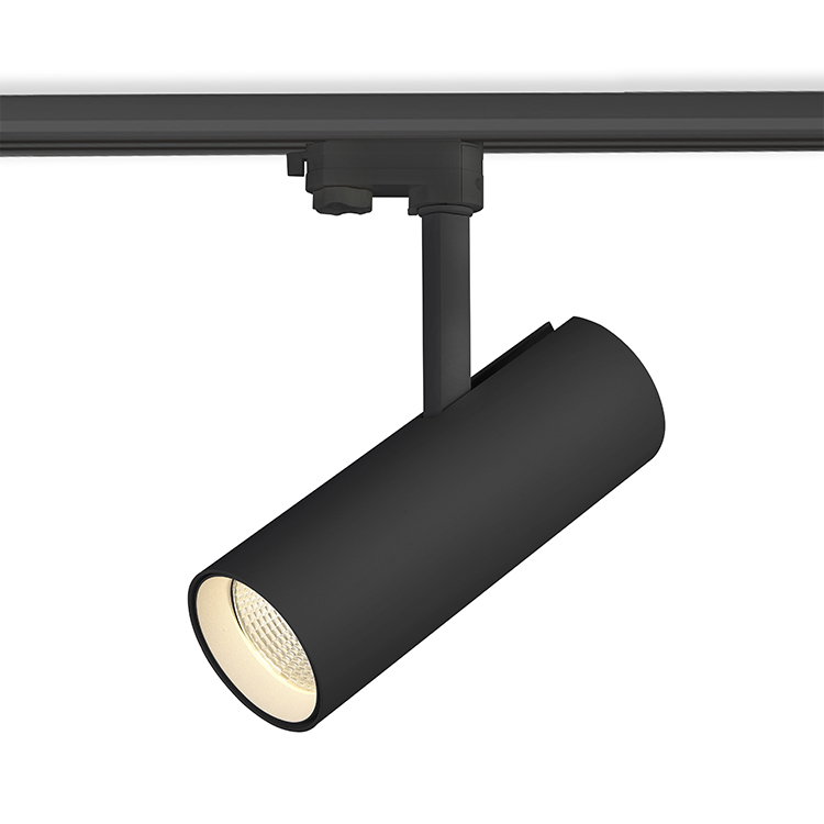 High Quality 20w track light high quality clothing display spot light,tiltable led black spotlight commercial