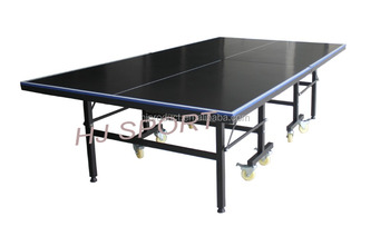 Standard Size 18mm MDF Folding Table Tennis Table Equipment , Indoor Sport  Ping Pong Table With