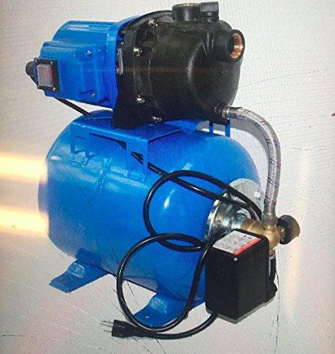 1.6 Hp 1200w Shallow Well Garden Pump 1000gph W/booster System & Pressure Tank