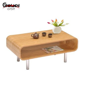 Modern Bentwood Coffee Table Durable Wood Living Room Center Table - Orbit coffee table