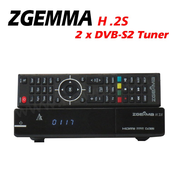 2017 Hot Sale ZGEMMA H.2S Satellite Reciever With Linux OS Enigma2 DVB-2xS2 Sat Tuners From Air Digital Technology