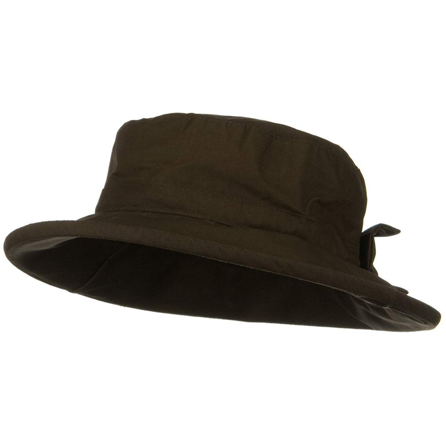 3fe9db72def95 Get Quotations · MG Waxed Cotton Canvas Ladies Wide Brim Bucket Hat - Brown