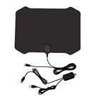 75 Mile Range Amplified Hdtv Antenna with detachable wall adaptor indoor TV Antenna