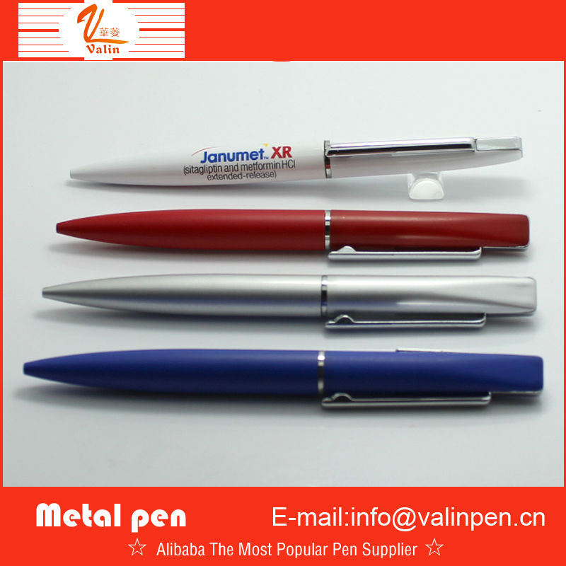 unique metal ball pen with square head