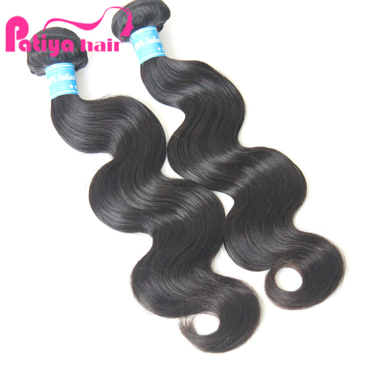 Raw Indian hair wholesale unprocessed virgin hair product, cuticle intact body wave Indian human hair, Natural black color 1b