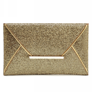 wholesale bling gold personalized purse designer small party clutch bag evening bag for ladies