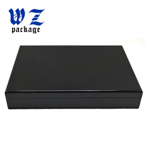 High qualtity Brown cosmetic wooden box with inner eva foam