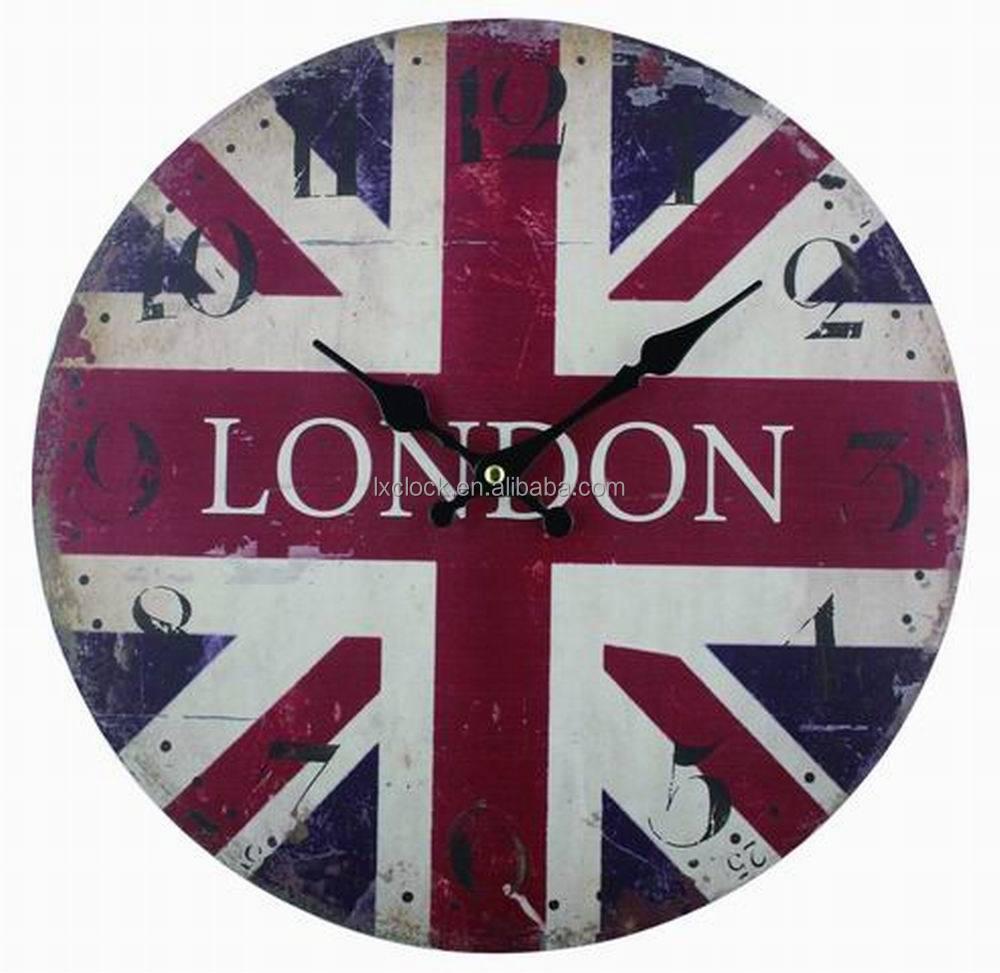 MDF Wal reloj Londres símbolo diseño reloj-Relojes de Pared ...