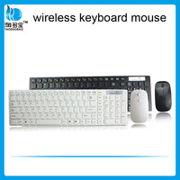 2.4g USB wireless keyboard mouse combo with white color for computer/laptop