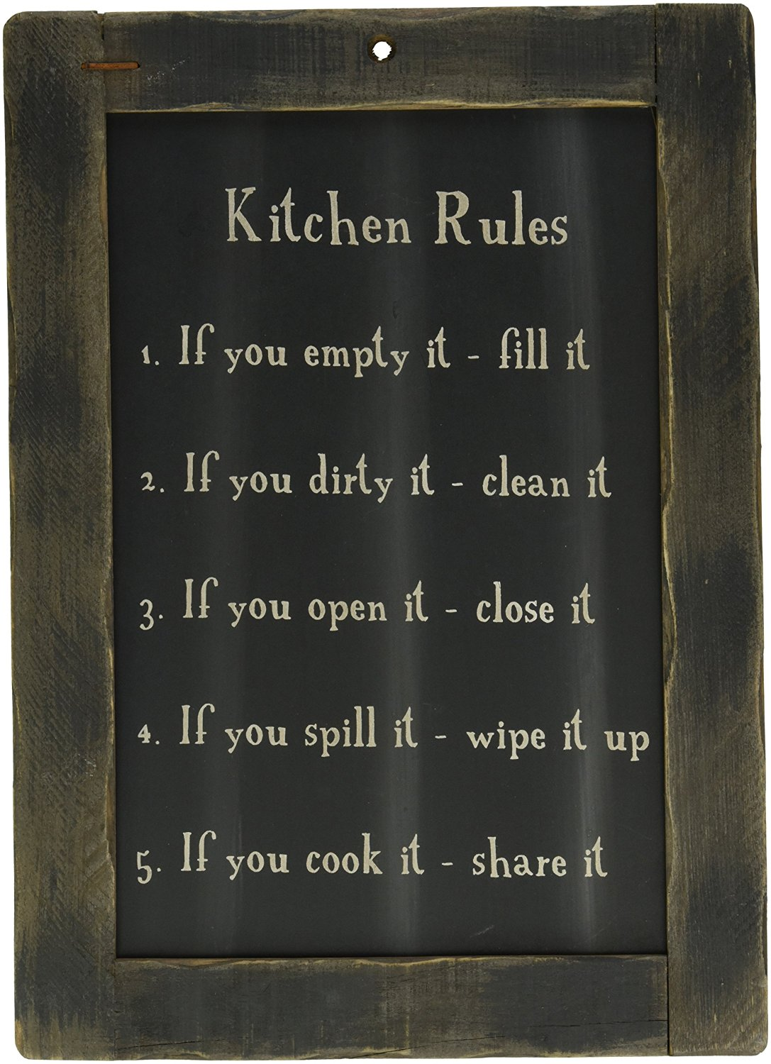 Buy Framed Kitchen Rules Blackboard Primitive Country
