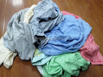Color Mixed Used T Shirt Wiping Rags