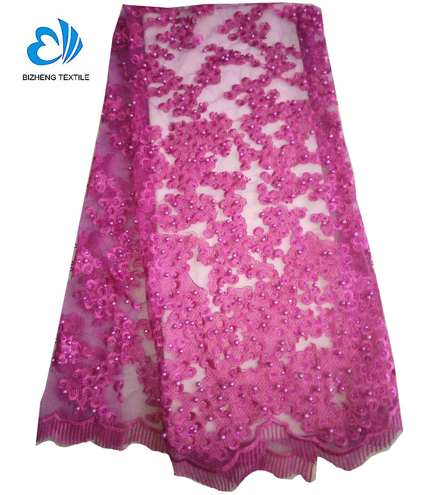 Purple Lace Wedding Dress Material