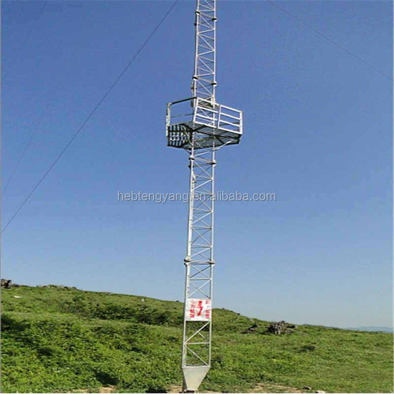 Telecommunication Lattice Steel Radar Guyed Tower