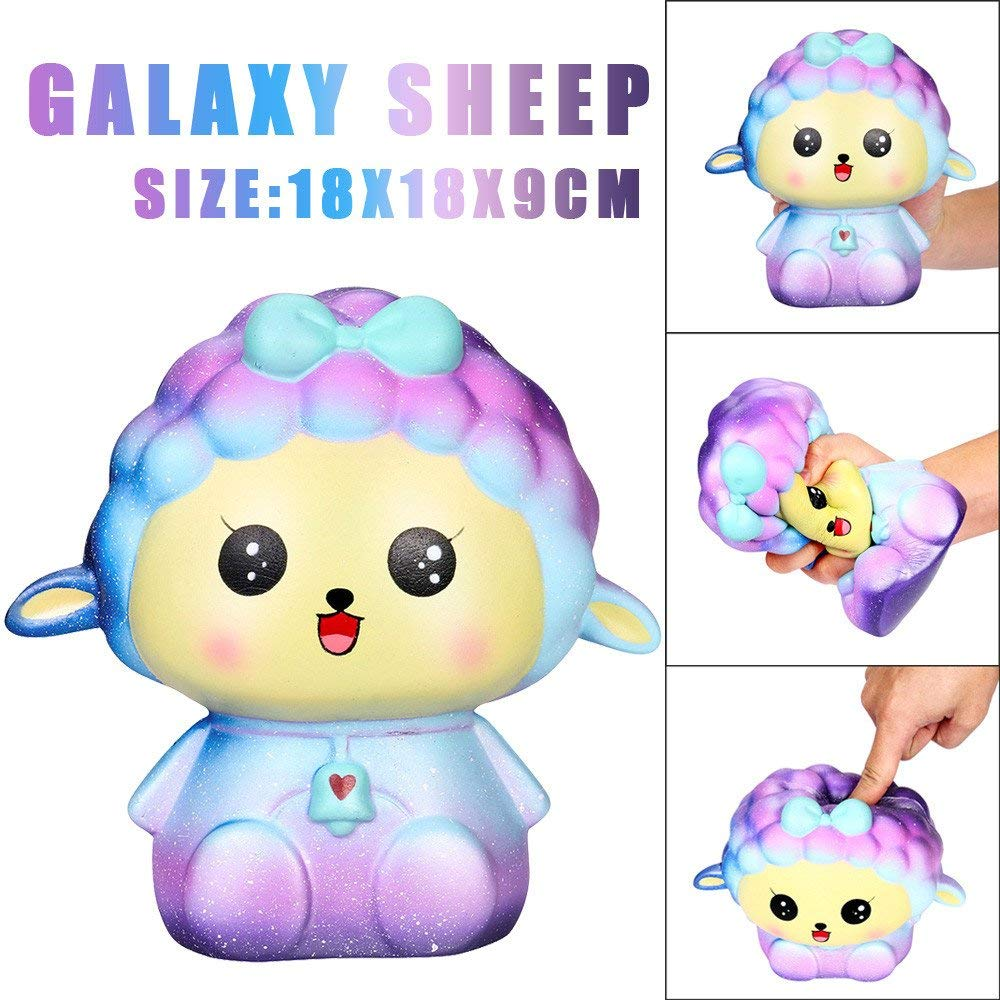 USHOT Clearance 18cm Squishy Jumbo Big Galaxy Sheep Slow Rising Cream Squeeze Scented Cure Toys