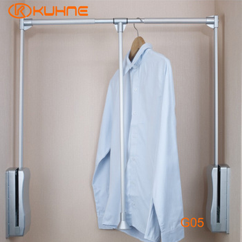 Soft Rise Wardrobe Lift Pull Down Closet Rail For Bedroom Furniture G05