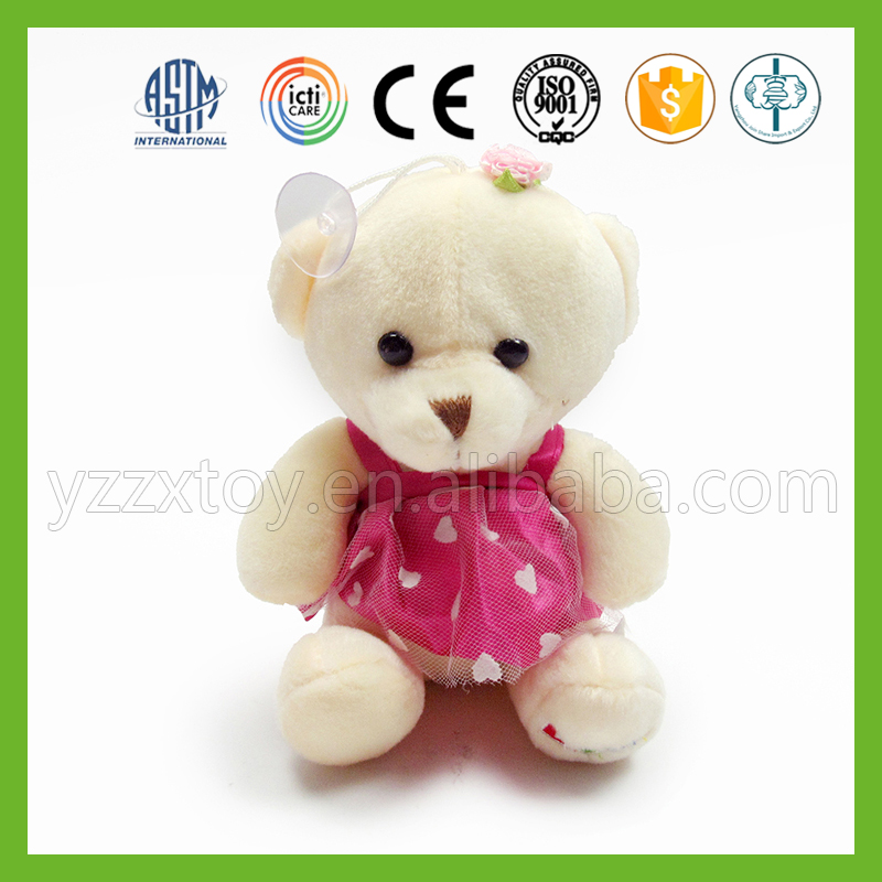 Christmas minion white babr bear plush toy with pink skirt
