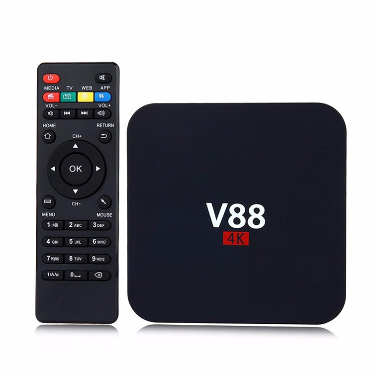 V88 Smart Android 6.0 RK3229 Quad Core 16.1 XBMC UHD 4K 1GB 8GB WiFi HD <strong>Media</strong> Player <strong>Set</strong> <strong>top</strong> <strong>Box</strong> Android TV <strong>Box</strong>