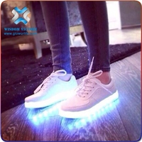 hot sales 2017 customized led strip light, tenis led shoes, unisex led light up shoes