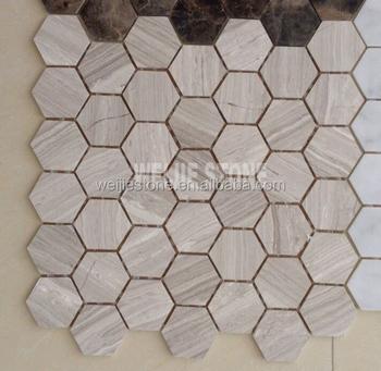 Legno Venature Del Marmo Grigio Cucina Mosaico Piastrelle In A Forma ...
