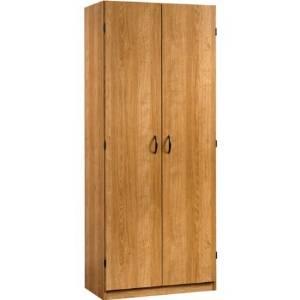 Sauder Beginnings Storage Cabinet with Four Adjustable Shelves, Highland Oak