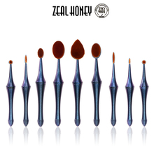 Zealhoney 2017 Create Your Own Brand 9 pcs Oval Mermaid Makeup Brush With Professional