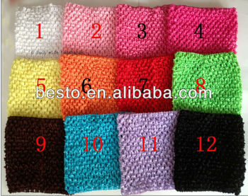 6 Wide Elastic Handmade Plain Crochet Headband For Baby Tutu Tops