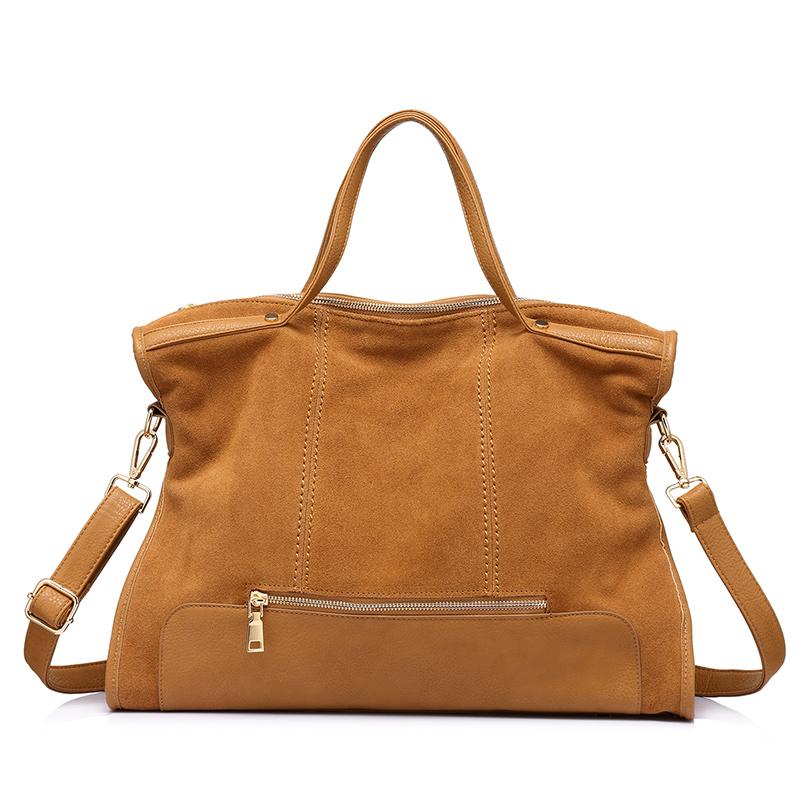 Женская сумка через плечо LOVEVOOK, большая сумка-тоут из сплит-кожи для работы в офисе, 2020(Китай)