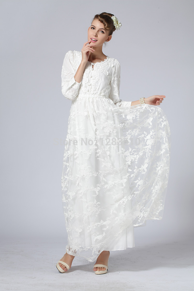 0248b0fba854 Plus Size White Lace Summer Dress