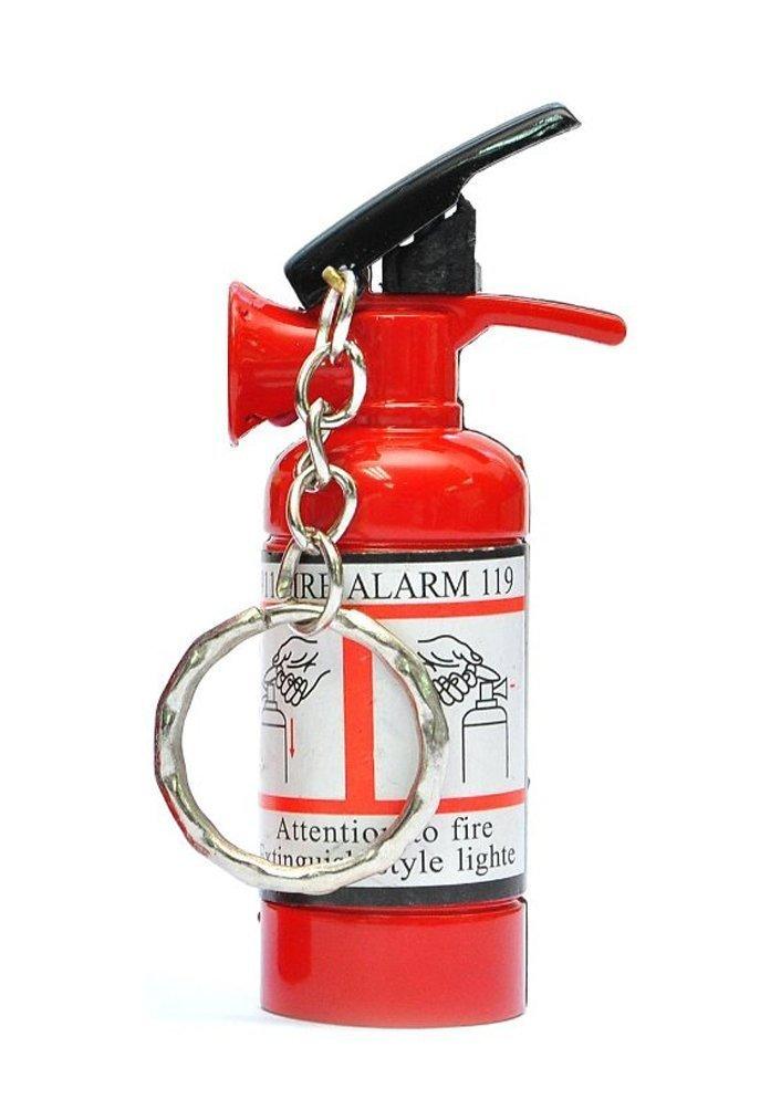 2pcs Empty Fire Extinguisher Shaped Jet Flame Refillable Cigarette Lighter