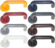 European Modern U shape plastic door handle with escutcheon,door pull handle