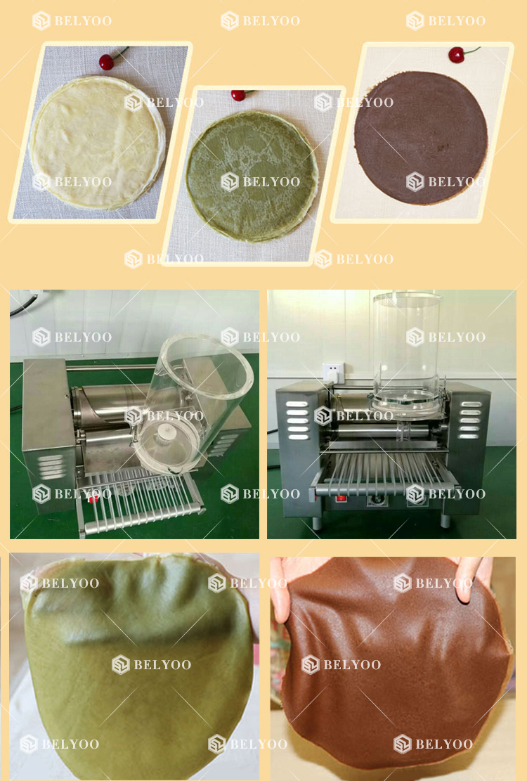 Easy operate auto mini pancake machine/automatic crepe making machine for sale