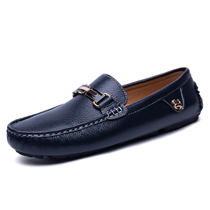 Men Genuine Leather Loafers Soft Driving Shoes