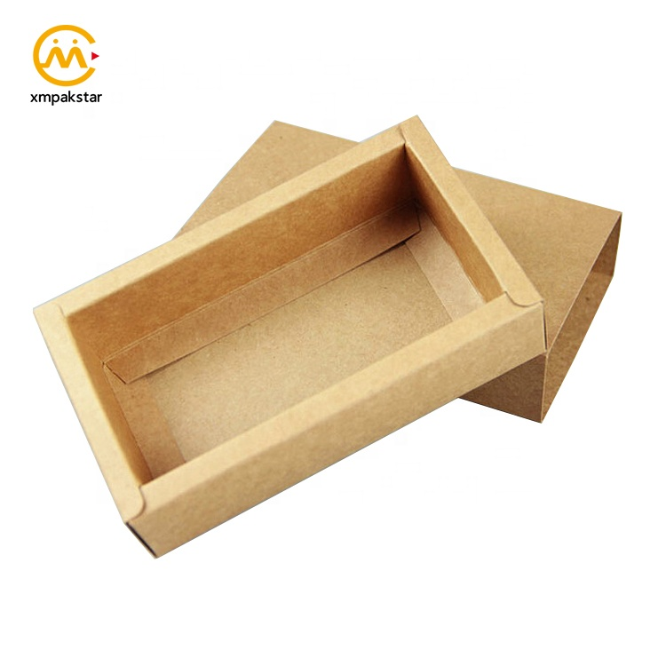 Factory custom eco friendly slide opening brown black Kraft paper match packaging boxes for tea