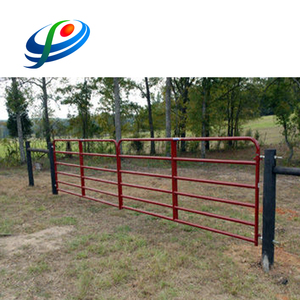 Galvanized steel livestock gates / metal fence inserts / farm fence materials