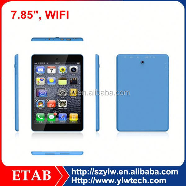 7.85 inch ATM7021 dual core china low price android tablet with 5mp camera