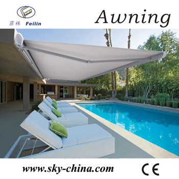 Aluminum Retractable Cette Awning Rain Protection For Windows