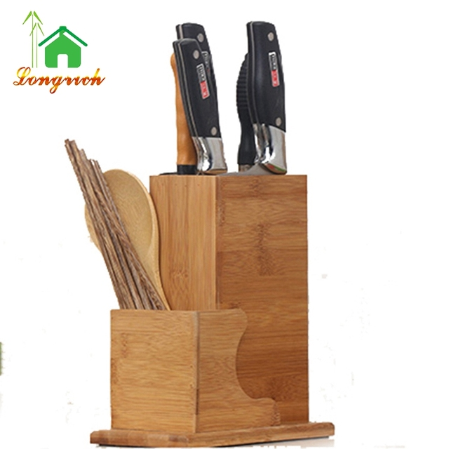 Bamboo Wood Knife Block holder storage box Organizer for kitchen cutlery  sc 1 st  Alibaba & bamboo box knife holder-Source quality bamboo box knife holder from ...