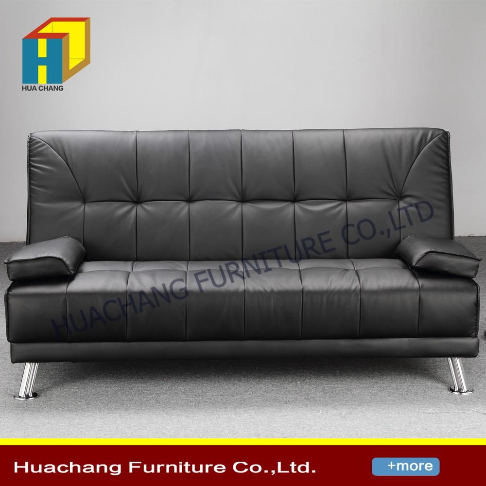 Pu Leather Convertible 3 Seater Sofa Bed / Futon - Buy 3 Seater Sofa Bed /  Futon,Pu Leather Convertible Sofa Cum Bed Designs,Price Of Sofa Cum Bed ...