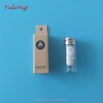 d413896f0 Novo modelo de garrafa de vidro ecológico de bambu de seda fio dental