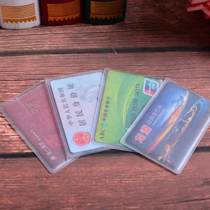 Clear wholesale pvc soft card holder for ID
