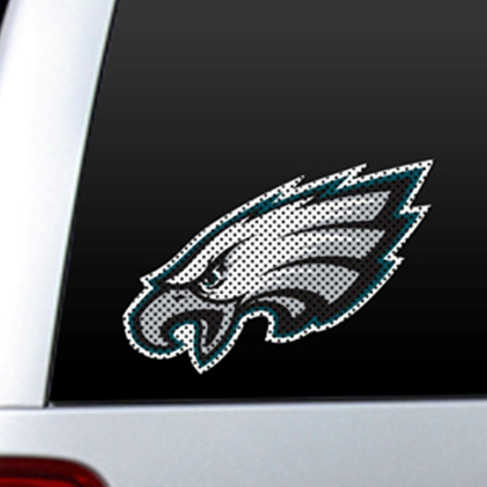 Get quotations · nfl philadelphia eagles car truck window film decals see through for safety