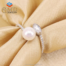 Alibaba online shopping wholesale high quality rhodium plated zirconium ring